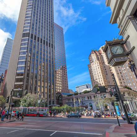 Located in the heart of San Francisco's business district